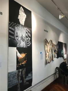 Jewish Artists Initiative's Jerusalem Biennale 2017 Exhibition, Flashpoints at MuzeuMM Gallery. Photo credit: Genie Davis.