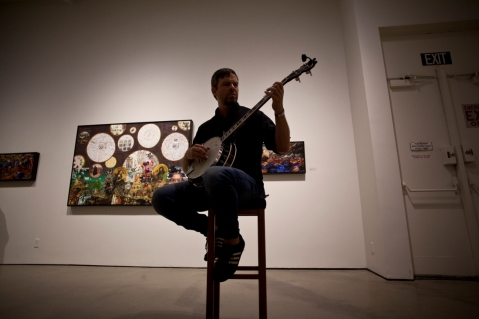 Eric Stoner at Irvine Fine Arts Center. Photo credit: Nicole Caldwell