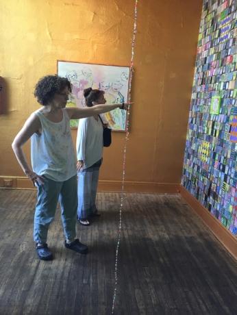 Julia Schwartz, tenderly cradled and lavishly flung at Visitor Welcome Center. Photo credit: Lorraine Heitzman.