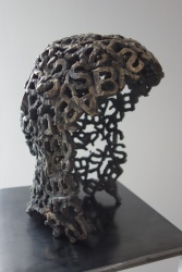 Jason Manley, Wig, 2018, bronze, JAUS Gallery. Photo courtesy of the gallery.