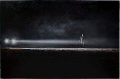 Martin Bruinsma; Noir at Lois Lambert Gallery. Photo courtesy of the gallery.