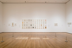 Installation view of Adrian Piper: A Synthesis of Intuitions, 1965–2016, The Museum of Modern Art, New York, March 31–July 22, 2018. © 2018 The Museum of Modern Art. Photo: John Wronn.