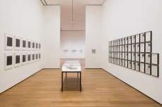 Installation view of Adrian Piper: A Synthesis of Intuitions, 1965–2016, The Museum of Modern Art, New York, March 31–July 22, 2018. © 2018 The Museum of Modern Art. Photo: Martin Seck.