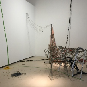 Chenhung Chen in Studio System 2 at Torrance Art Museum. Photo courtesy of the artist.
