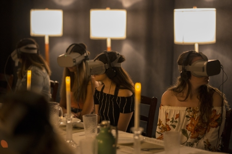 Dinner Party. Wonderspaces: With Creative License. Photo Credit Adam Elmakias