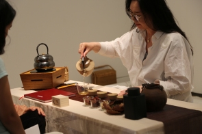 Feng Ling in Studio System 2 at Torrance Art Museum. Photo courtesy of the artist.