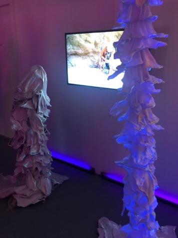 Anaeis Ohanian in Other Worlds, curated by Martin Durazo, at Charlie James Gallery. Photo credit: Genie Davis.