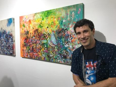 Jason Ostro. Remix: The Art of Music. Gabba Gallery. Photo Credit Genie Davis