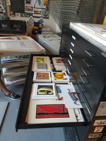 In the studio - prints. Photo Credit Jenny Begun.
