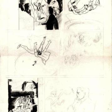 Jerry Robinson - Batman with Joker Side 1