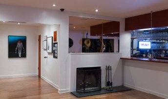 Installation view at Michael's Restaurant. Photo courtesy of the gallery.