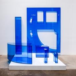 Rachel Lachowicz_C Lycra Knit, 2018_Plexiglas case_64h x 64w x 48d in
