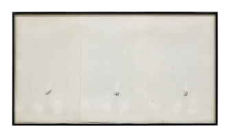 Barbara T. Smith Inchworm, 1965-66, Xerox, 14.25 x 25.75 inches. Photo courtesy of the gallery.