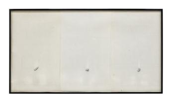 Barbara T. Smith Inchworm, 1965-66, Xerox, 14.25 x 25.75 inches. Photo courtesy of the gallery.