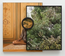 Todd Gray. - Samita, 2018, Three archival pigment prints in artist's frames and found frames with UV laminate - courtesy of Meliksetain Briggs