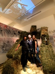 Huo Youfeng in Studio System 2 at Torrance Art Museum. Photo courtesy of the artist.