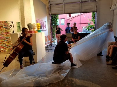 Dialectic of Being and Becoming: Realization at of Fullness, curated by Khang Bao Nguyen. At the 18th Street Art Center. Photo credit: Kristine Schomaker.