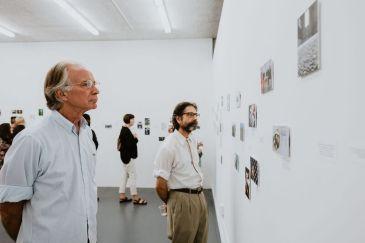 Guests viewing selected drawings in East Gallery at CGU Art. Photo credit: Sargeant Creative