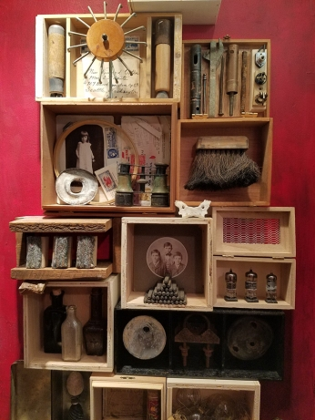 Kate Carvellas, Reliquary for an Assemblage Artist at The Closet in Shoebox Projects. Photo credit: Kristine Schomaker.
