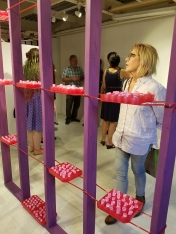 Alice Marie Perreault, All the King's Men, opening reception at Shoebox Projects. Photo credit: Kristine Schomaker.
