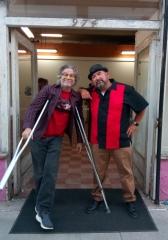 Mat Gleason and Abel Alejandre at Coagula Curatorial. Photo credit: Patrick Quinn.