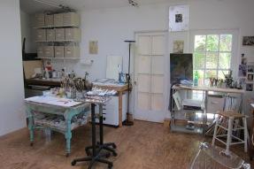 Kimberly Brooks studio visit. Photo credit: Gary Brewer.
