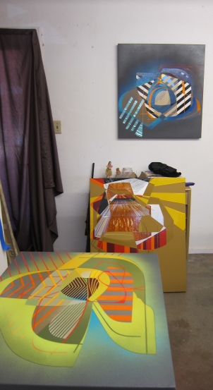 Alex Couwenberg. Studio Visit with Gary Brewer. Photo Credit Gary Brewer