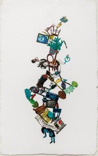 Stephanie Mercado. The Sewing Circle: Feminine Narratives. Marlborough School Seaver Gallery. Photos Courtesy of the Artists