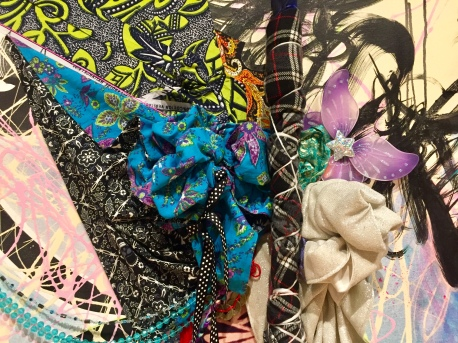 Shinique Smith. Refuge. Beyond the Blue Veil (detail) California African American Museum. Photo Credit Shana Nys Dambrot