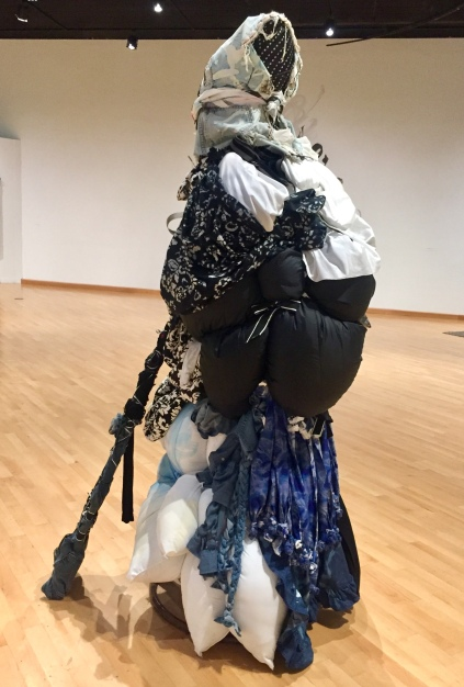 Shinique Smith. Refuge. The Watcher (Moon marked she walks in starlight) - (2018) California African American Museum. Photo Credit Shana Nys Dambrot