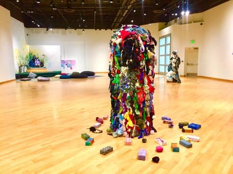 Shinique Smith. Refuge. California African American Museum. Photo Credit Shana Nys Dambrot
