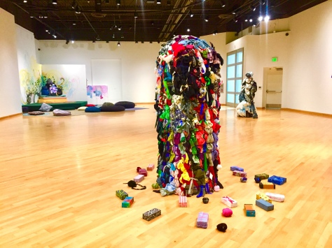 Shinique Smith. Refuge. California African American Museum. Photo Credit Shana Nys Dambrot