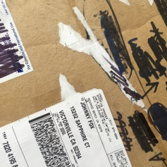 The packaging. Route, Rut, Lane: A Karkhana Collaboration. Shoebox Projects Photo courtesy of the artists
