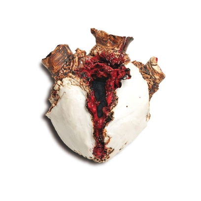 Broken Heart, 2010, porcelain, glaze, luster, PUMP by Sierra Pecheur. Photo courtesy of the artist. In the collections of Shea Diamon