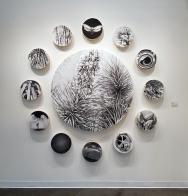 Catherine Ruane in Nature Worship at MASH Gallery. Photo credit: Kristine Schomaker.