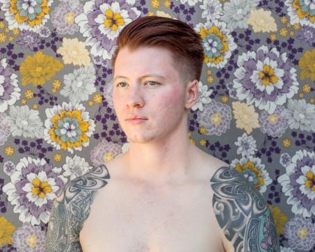 Wallflower 2, Rowan, Appling, GA. 2016, AmyElkins, Photographs of Contemporary Masculinity at Orange Coast College, Frank M. Doyle Arts Pavilion. Photo courtesy of the gallery.