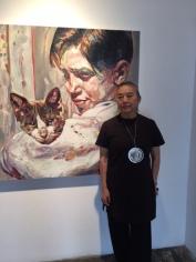 Hung Liu at Walter Maciel Gallery. Photo credit: Genie Davis.