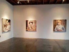 Hung Liu at Walter Maciel Gallery. Photo credit: Kristine Schomaker.