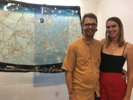 Mackenzie Goodman and Adam Stacey. Fool's Gold at Noysky Projects. Photo credit: Genie Davis