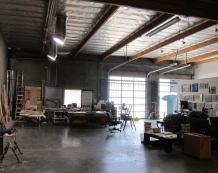 Kim Dingle studio visit, photo credit: Gary Brewer.