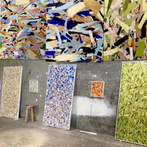 Kim Dingle studio visit. Photo courtesy of the artist.
