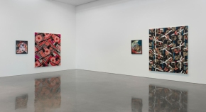 Installation view of Lari Pittman Portraits of Textiles & Portraits of Humans at Regen Projects, Los Angeles Photo: Brian Forrest, Courtesy Regen Projects, Los Angeles