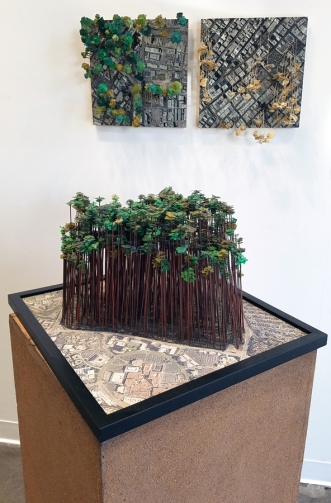 Kim Abeles in Nature Worship at MASH Gallery. Photo credit: Kristine Schomaker.