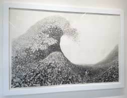 Laurie Lipton in Nature Worship at MASH Gallery. Photo credit: Kristine Schomaker.
