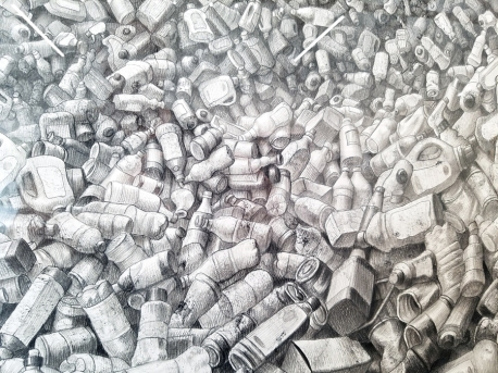 Laurie Lipton, detail, in Nature Worship at MASH Gallery. Photo credit: Kristine Schomaker.