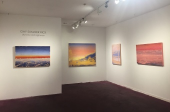 Gay Summer Rick's Skyways and Highways at BG Gallery. Photo courtesy of the artist.
