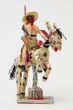 Willard Hill, Untitled (Cowboy Orange Fringe Riding Horse), no date, masking tape-mixed media. Photo courtesy of the gallery.