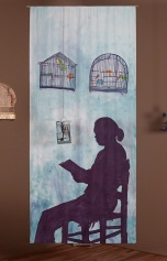 Seated Shadow with Bird Cages. Betye Saar.Something Blue at Roberts Projects. Photo courtesy of the artist and Roberts Projects