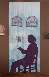 Seated Shadow with Bird Cages. Betye Saar. Something Blue at Roberts Projects. Photo courtesy of the artist and Roberts Projects