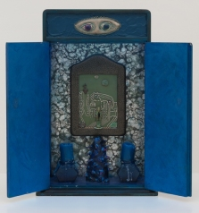 Indigo Illusions. Betye Saar.Something Blue at Roberts Projects. Photo courtesy of the artist and Roberts Projects
